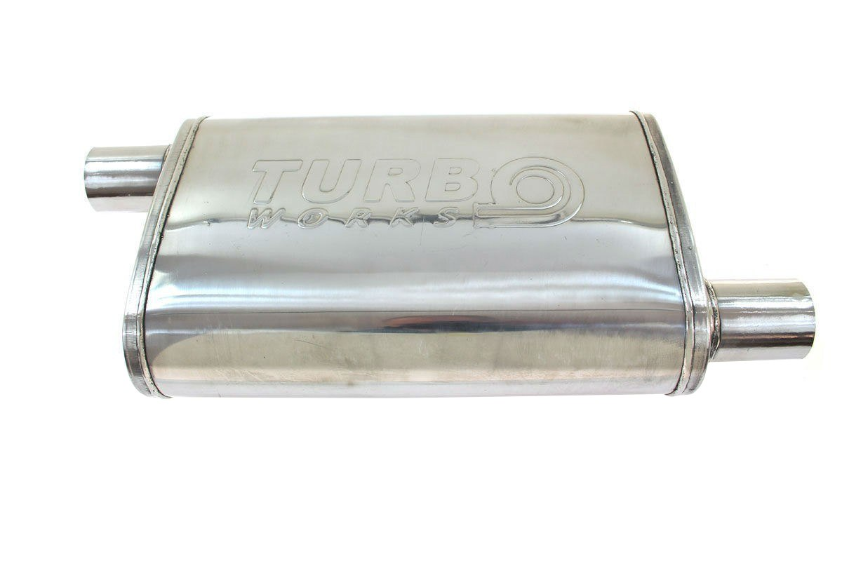 Tłumik Środkowy 57mm TurboWorks LT 409SS - GRUBYGARAGE - Sklep Tuningowy